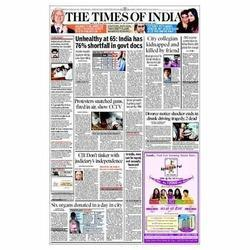 Times Of India Newspaper Advertising Service