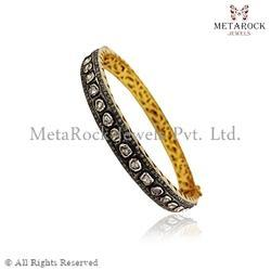 Polki Rose Cut Diamond Designer Bangle