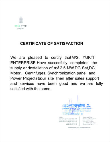 Certificate Of Satisfaction - Best Design Sertificate 2018