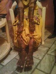 Male And Female Bridal Mehndi Design