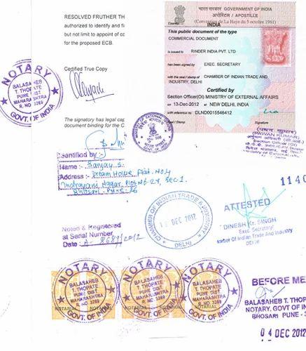 Affidavit Certificate Apostille In Chetpet, Chennai