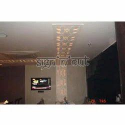 Custom 3D Jali on Ceiling