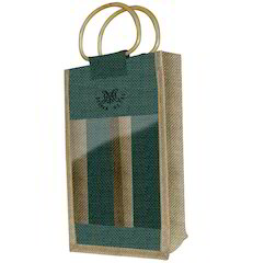 Jute Double Bottle Bag