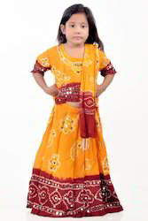 Kids Semi Stitched Lehenga Choli