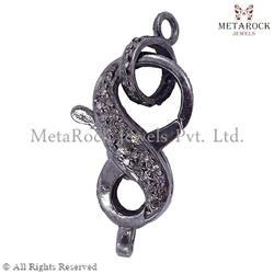 Clasp 925 Sterling Silver Diamond Finding