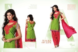 Cotton Printed Semi-Stitched Suit