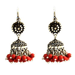 Orange Hook Jhumki