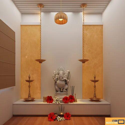 Interior Designing Services: Pooja Ghar Interior Designing Services In Begumpet