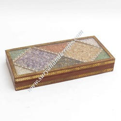 Wooden Box With Stone