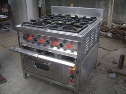 Four Burner Range -Underneath oven