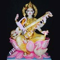 Marble Handmade Saraswati Statue