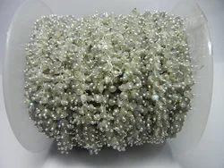 Labradorite Gemstone Sterling Silver Beaded Cluster Chain