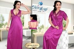 Silk Full Length Two Piece Nighty