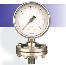 Sealed Unit & Steel Plated Tension Flanges Pressure Gauge