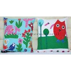 Applique Baby Pillow Cover