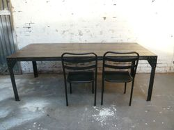 Iron & Wooden Dining Table