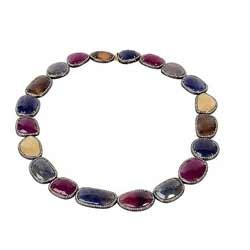 Sapphire Ruby Necklace