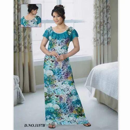 Ladies Cotton Nightie - Ladies Cotton Nighties 100% Export Oriented ... 1e2dfe41f6aa