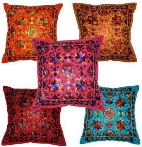 Bohemian Indian Embroidered Cushion Covers Handmade Unique Store