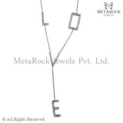 Designer Silver Chain Necklace