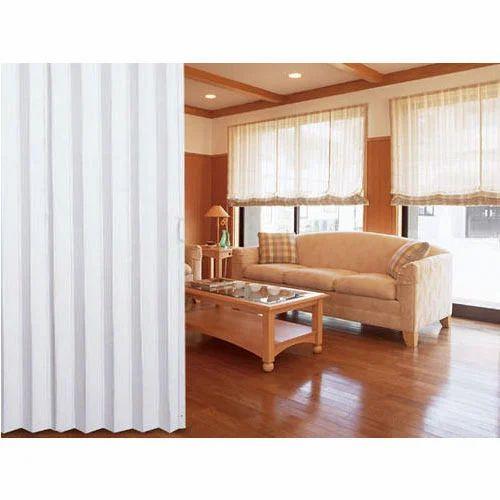 PVC Plain folding sliding door .