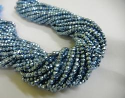 Petrol Pyrite Gemstone Faceted Rondelle Bead Strands
