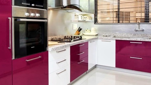 High Gloss Modular Kitchens