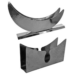 SS Hammered Moon Shape  & Imperial Napkin Stand