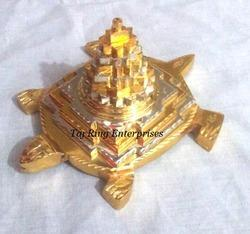 Tortoise With Gold Shree Yantra