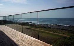 Bar Aluminum Frameless Sea Side Railing