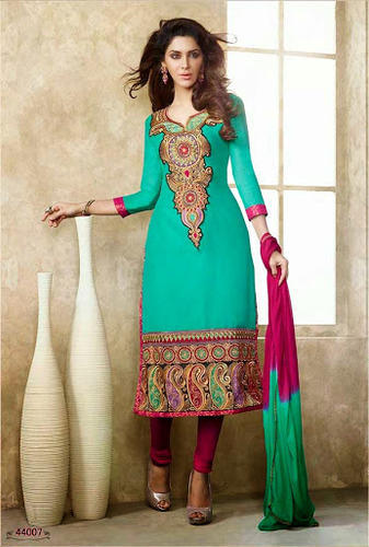 Pure Chanderi Silk Suits Wholesaler from New Delhi
