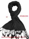 Black Beauty Pure Crinkle Silk Stole