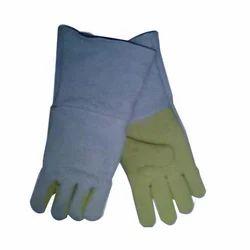 Yellow, Light Blue S Asbestos Hand Gloves