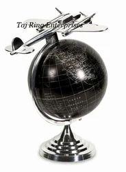 Vintage Aluminum Brass Globe