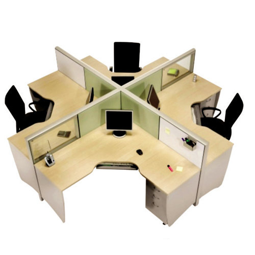Particle Board Modular Cubical Office Furniture, Dimension: 1200 X 1200 X  1000 Mm