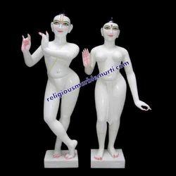 Religious Marble Statue Radha Krishna
