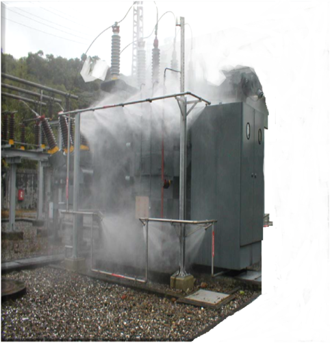 Automatic Water Mist Suppression System Transformer Fire