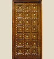 Solid Wood Heavy Panel 3D Carving Doors