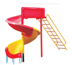 Spiral Slide FR Plastic Playground Equipment