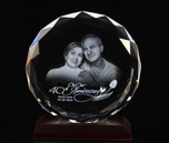 Etched Round Crystal
