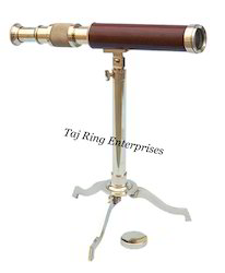 Desktop Brass Telescope with Stand