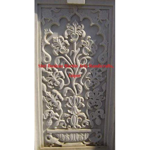 White Marble Stone Wall Panel, Dimension: 7 x 3.5 feet