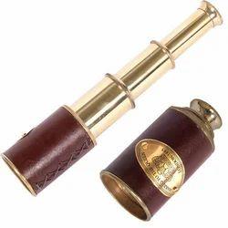 Brass Telescope In Leather