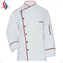 White and Red Chef Coat