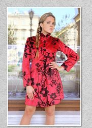 Printed Woolen Long Coat