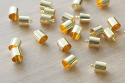 Gold Plated 925 Sterling Silver End Cap