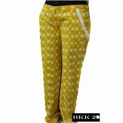 Ladies Designer Check Trousers