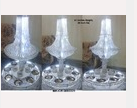 Crystal Chandelier Rotating Karahi Stand