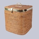 Round Wicker Laundry Basket