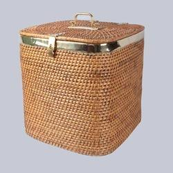 Round Wicker Laundry Basket